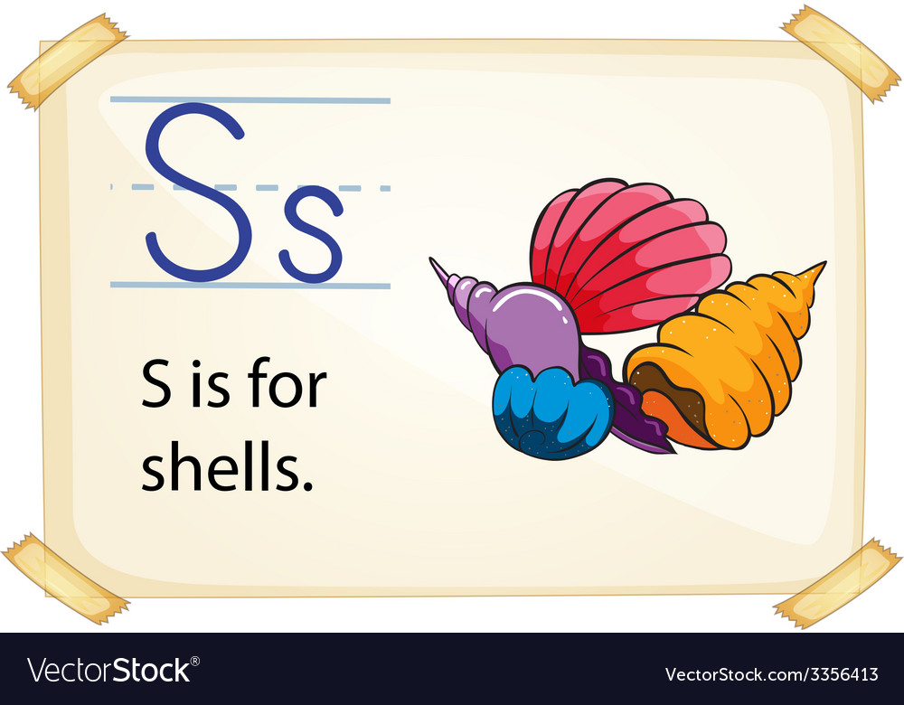 A letter s for shells vector | Price: 3 Credit (USD $3)