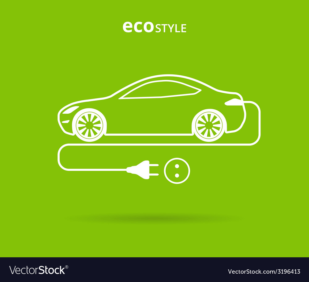 Eco style car vector | Price: 1 Credit (USD $1)