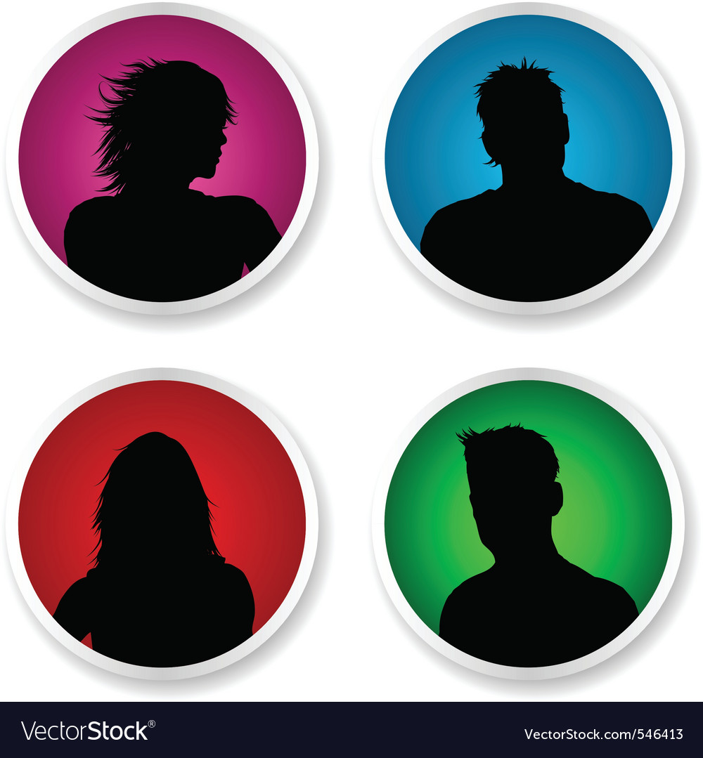 People stickers vector | Price: 1 Credit (USD $1)
