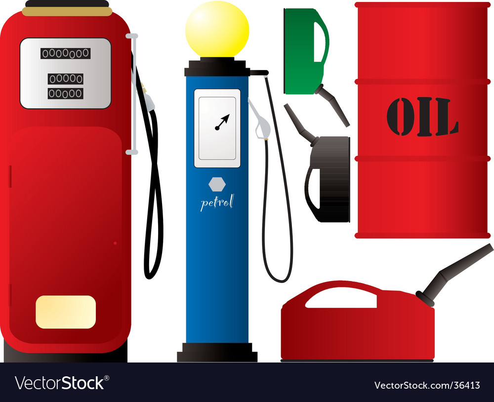 Petrol pumps vector | Price: 1 Credit (USD $1)