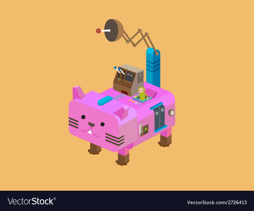 Robot cat vector | Price: 1 Credit (USD $1)