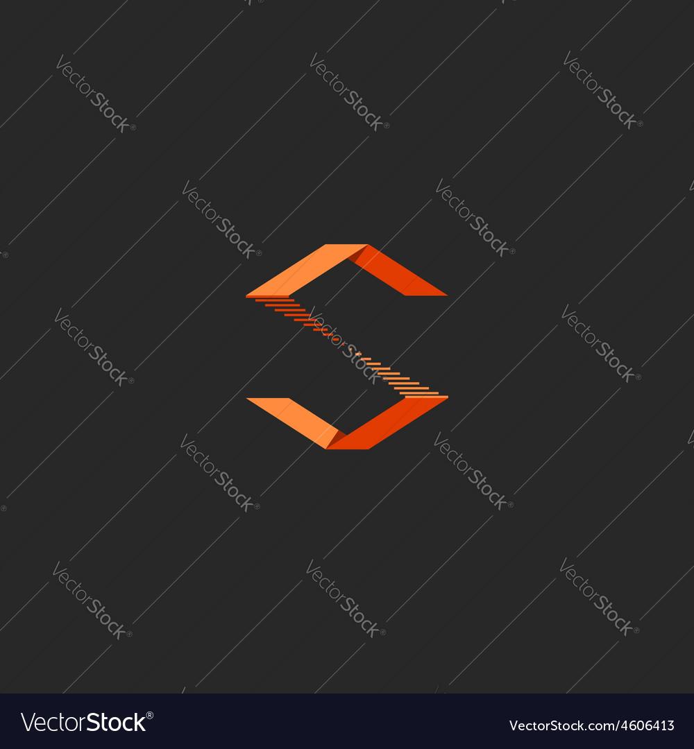 S letter logo idea orange design sign of vector   Price: 1 Credit (USD $1)