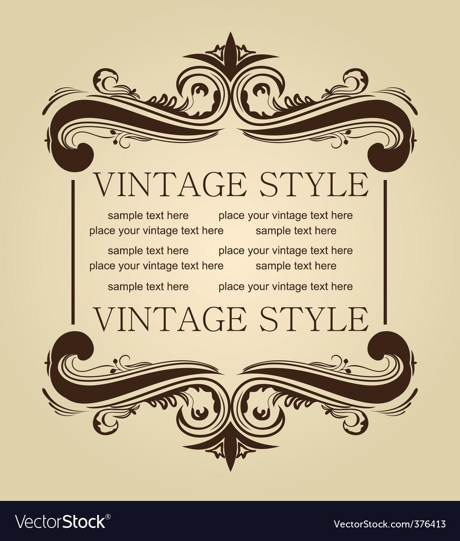 Vintage design vector   Price: 1 Credit (USD $1)