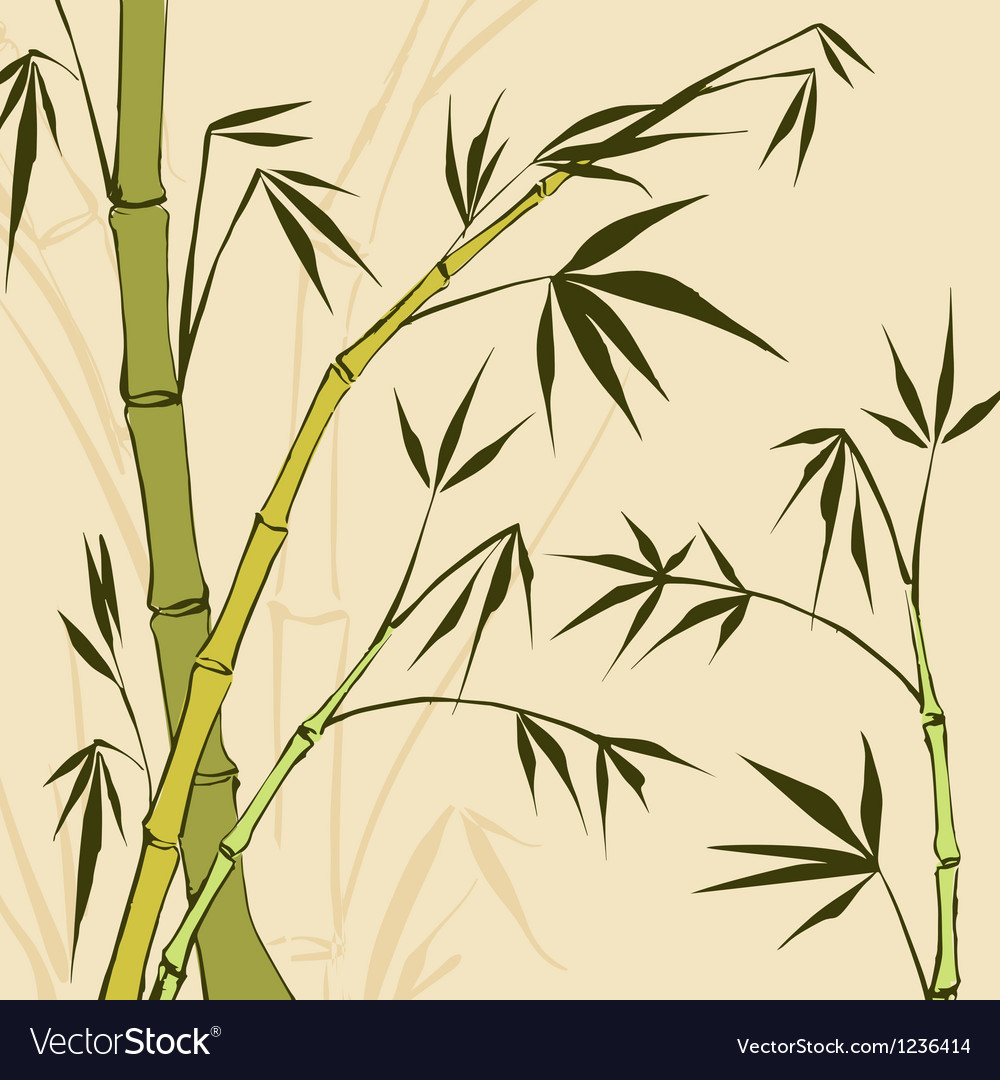 Bamboo painting vector | Price: 1 Credit (USD $1)