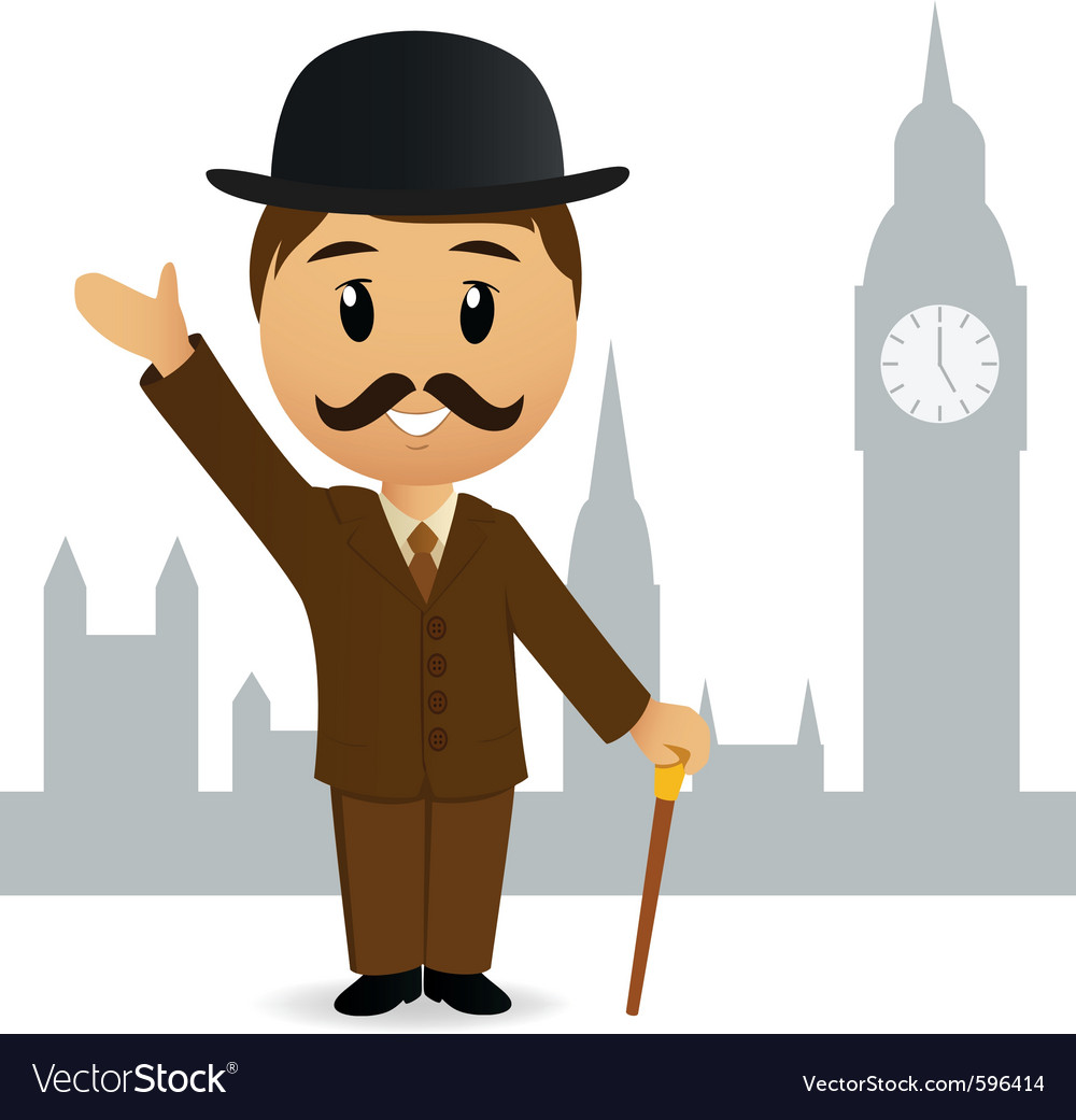 Cartoon english gentleman vector | Price: 3 Credit (USD $3)