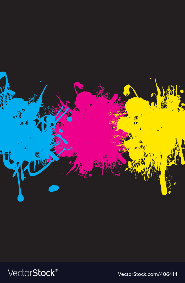 Cmyk splash vector | Price: 1 Credit (USD $1)