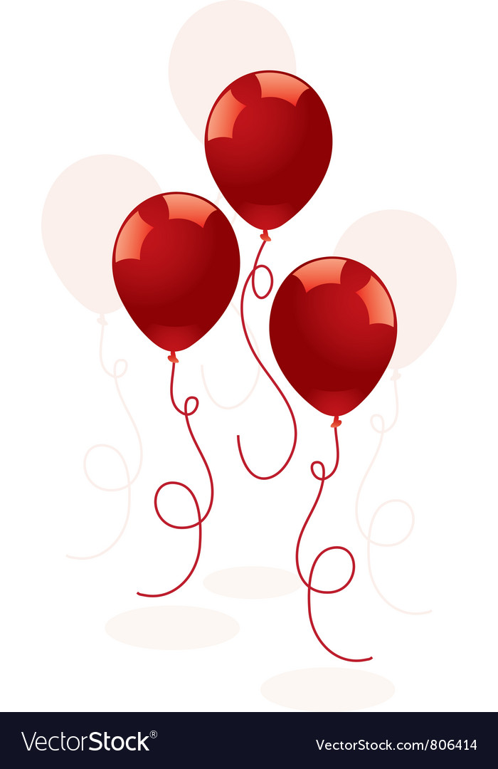Festive red balloons vector | Price: 1 Credit (USD $1)