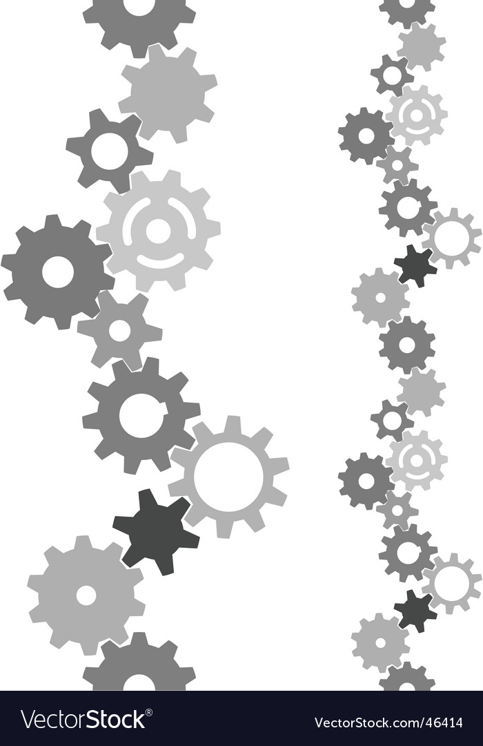 Industry technology gears vertically tiling vector | Price: 1 Credit (USD $1)