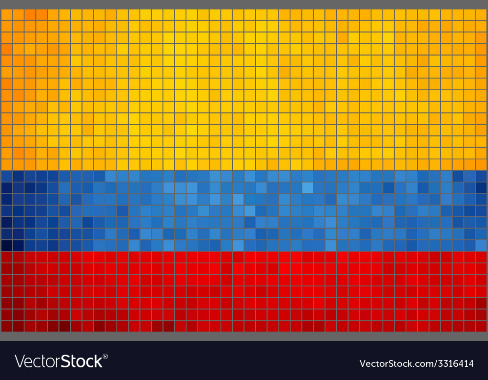 Mosaic flag of colombia vector | Price: 1 Credit (USD $1)