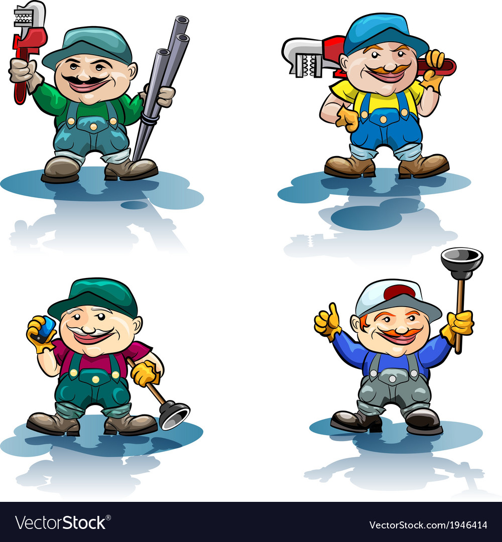 The plumber icon set vector | Price: 3 Credit (USD $3)