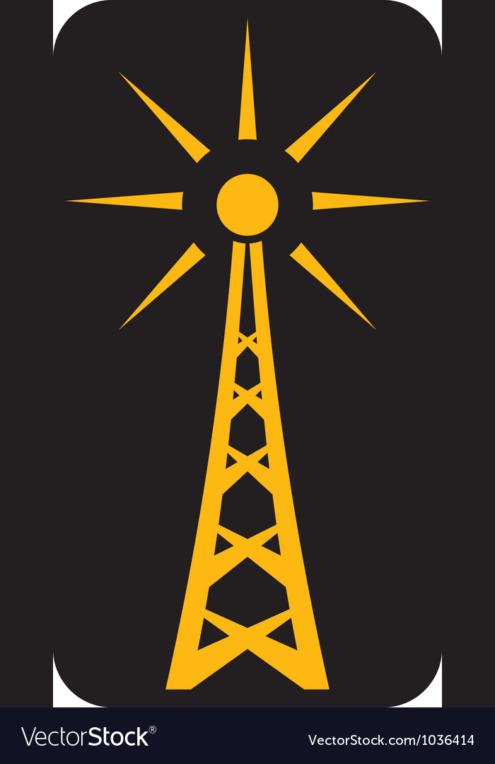 Radio antenna vector | Price: 1 Credit (USD $1)