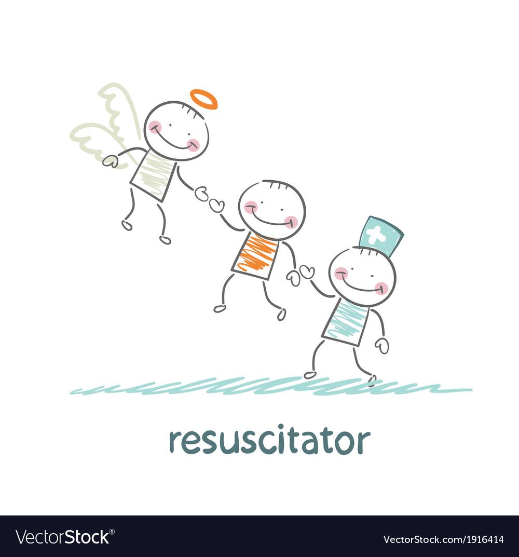 Resuscitator keeps patients picking up angel vector   Price: 1 Credit (USD $1)