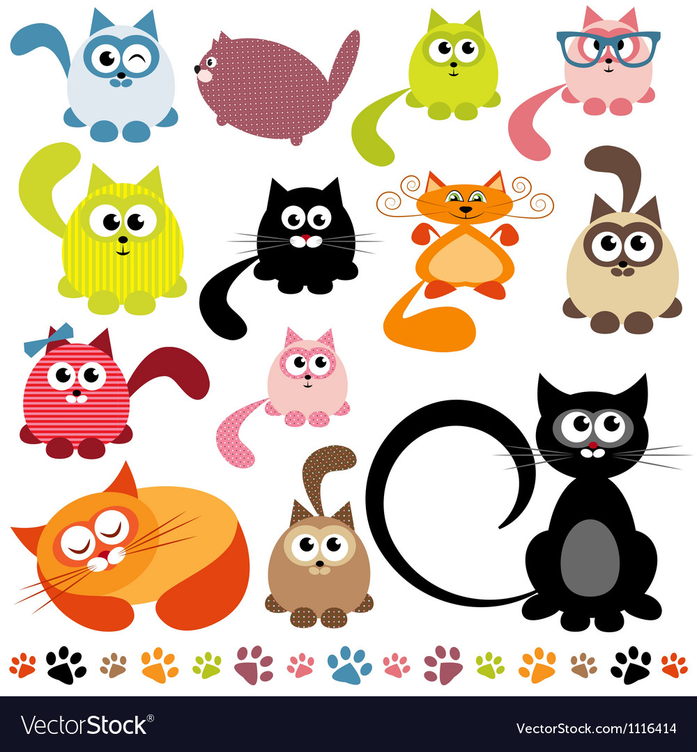 Set of cats vector | Price: 3 Credit (USD $3)