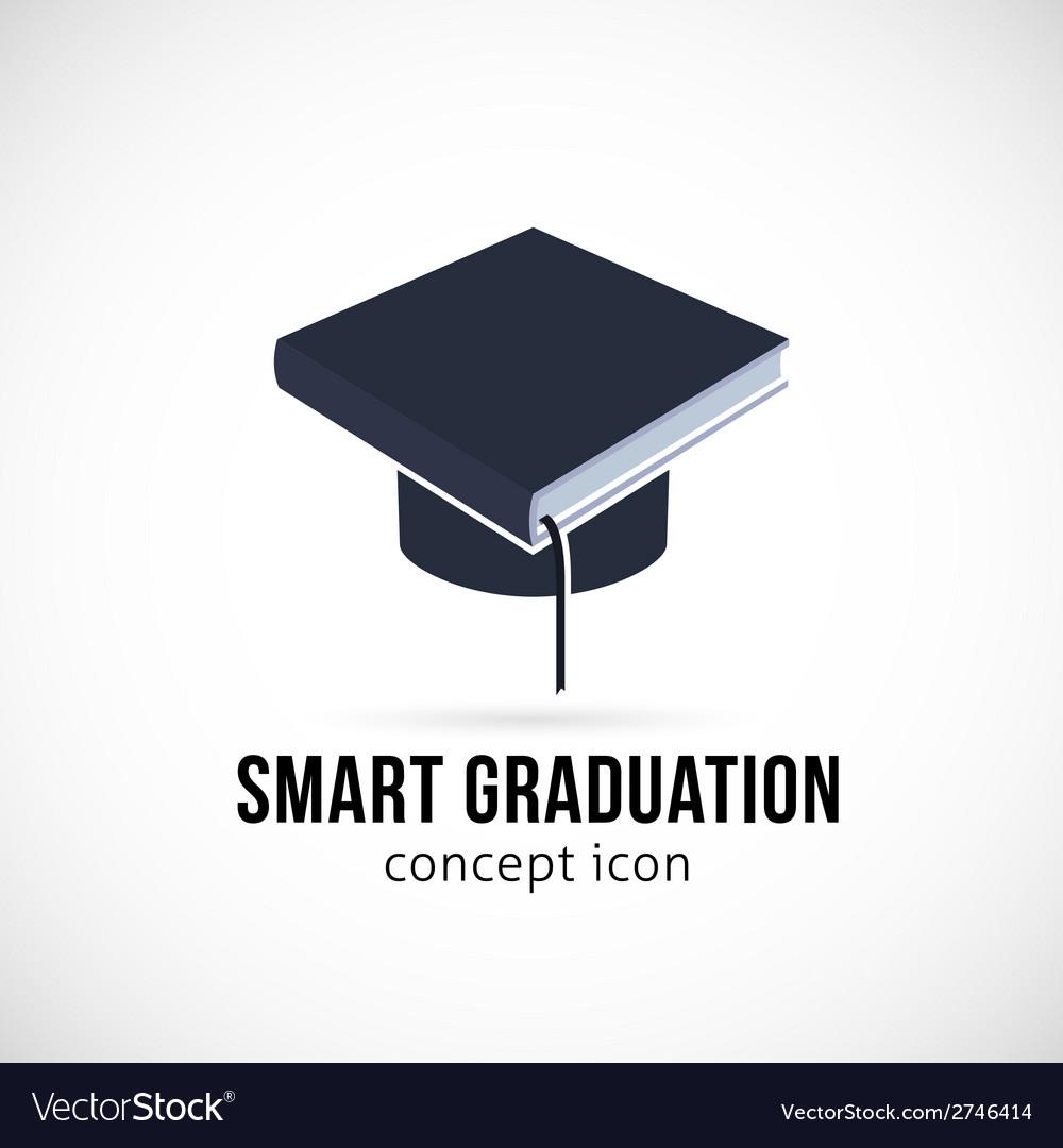 Smart graduation concept icon symbol or logo vector | Price: 1 Credit (USD $1)