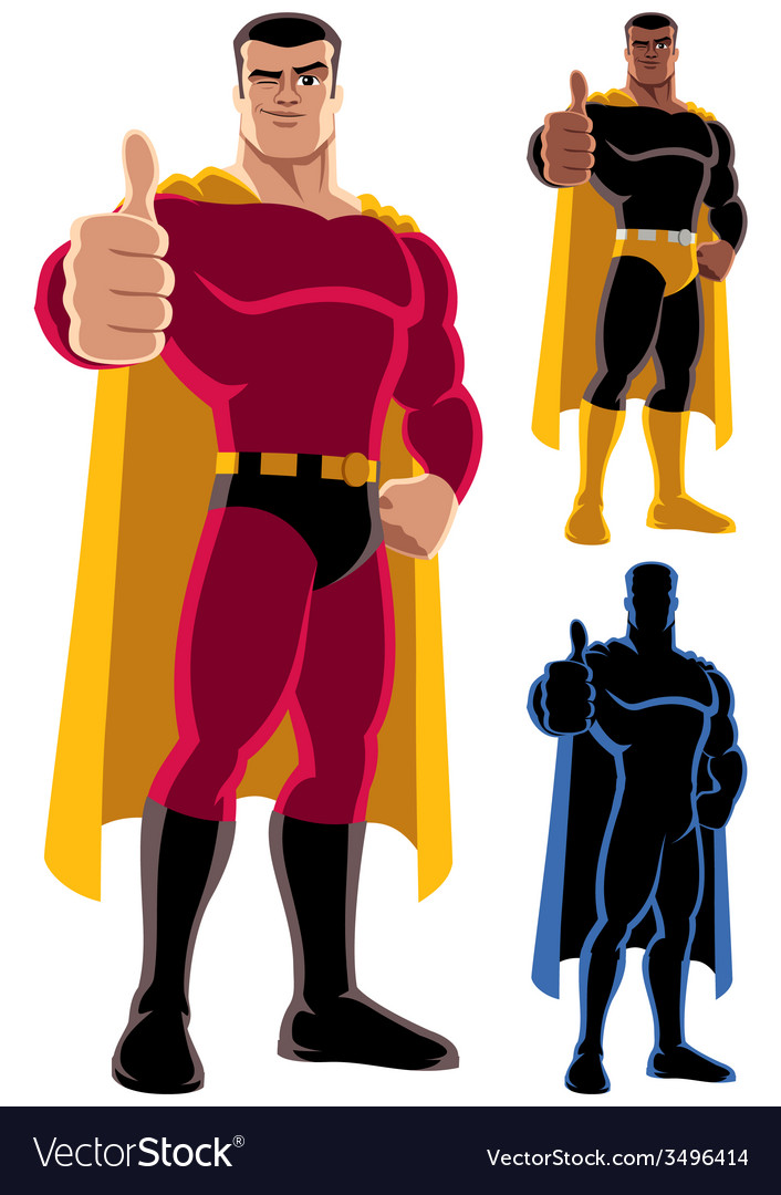 Superhero approving vector | Price: 3 Credit (USD $3)
