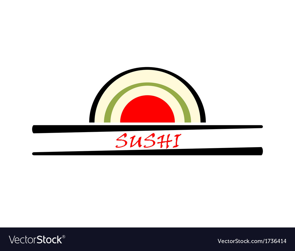 Sushi sign vector | Price: 1 Credit (USD $1)