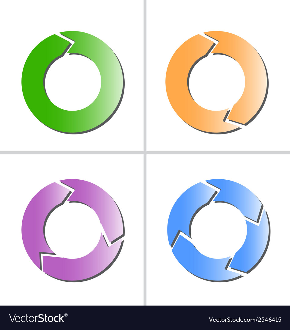 4 color arrow refresh reload rotation loop icon vector | Price: 1 Credit (USD $1)