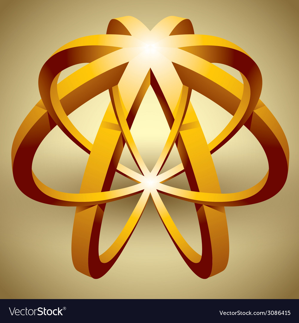 Abstract 3d icon impossible shape vector   Price: 1 Credit (USD $1)