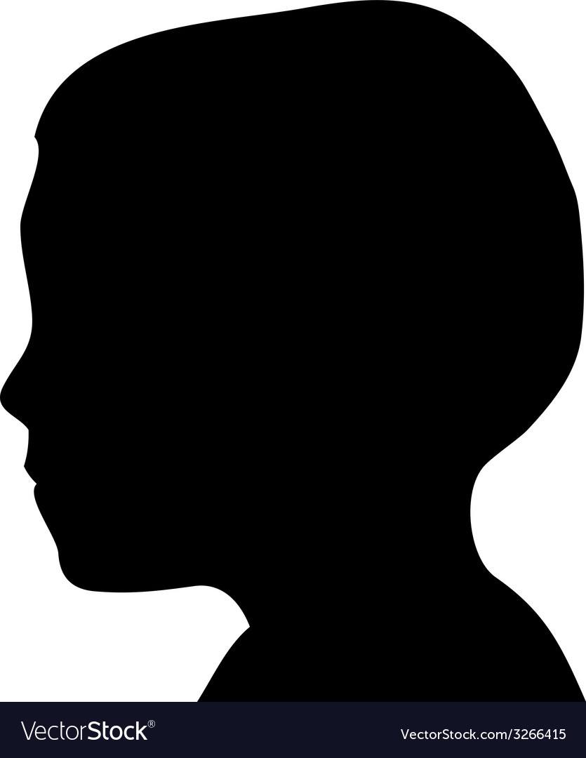 Boy head silhouette vector | Price: 1 Credit (USD $1)