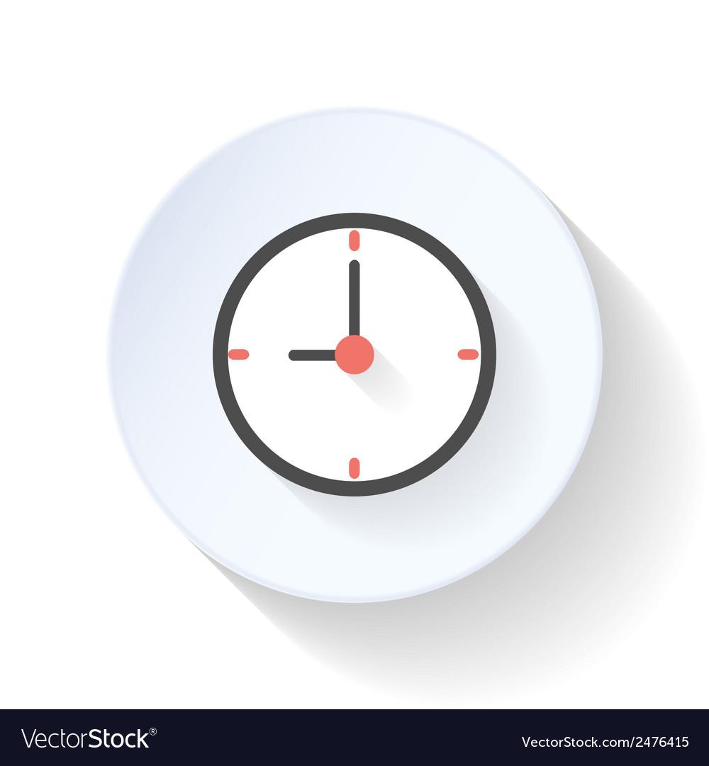 Clock flat icon vector | Price: 1 Credit (USD $1)