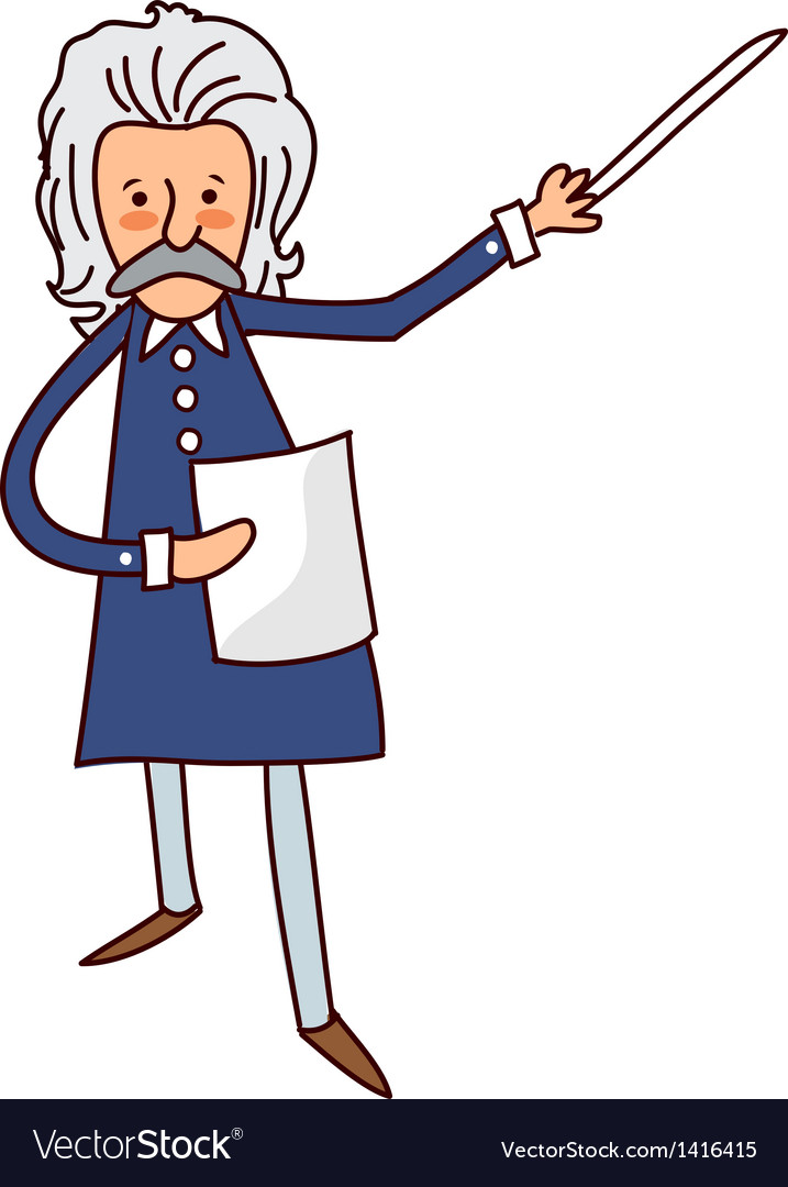Close-up of man holding paper and stick vector   Price: 1 Credit (USD $1)