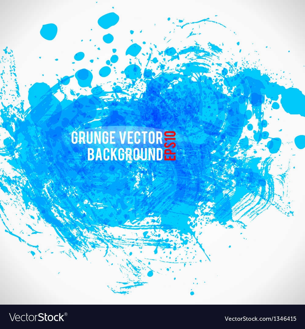 Color paint splashes grunge background bule vector | Price: 1 Credit (USD $1)