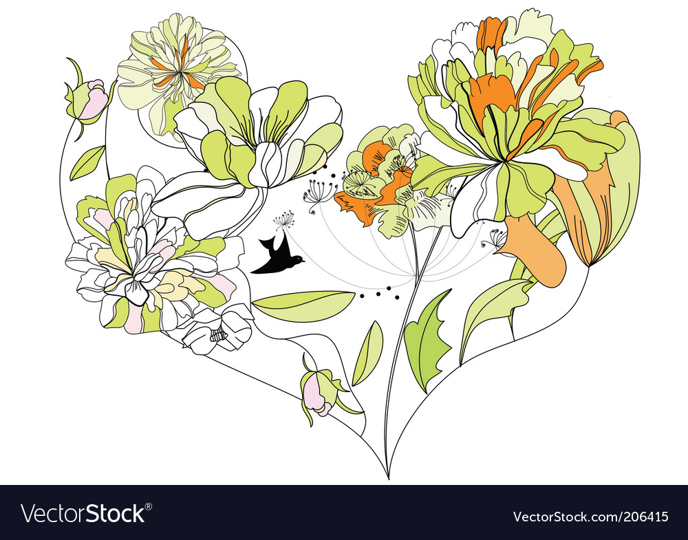 Decorative heart vector | Price: 1 Credit (USD $1)