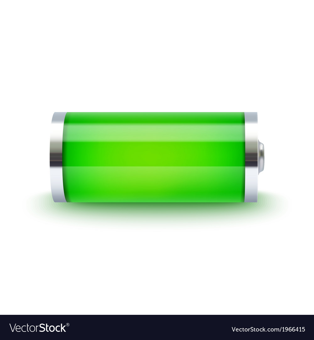 Full battery indicator vector | Price: 1 Credit (USD $1)