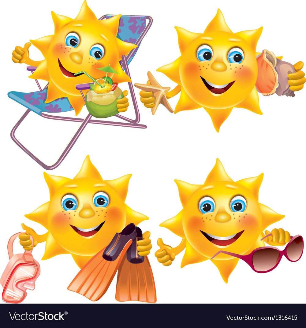 Fun sun on vacation vector | Price: 3 Credit (USD $3)