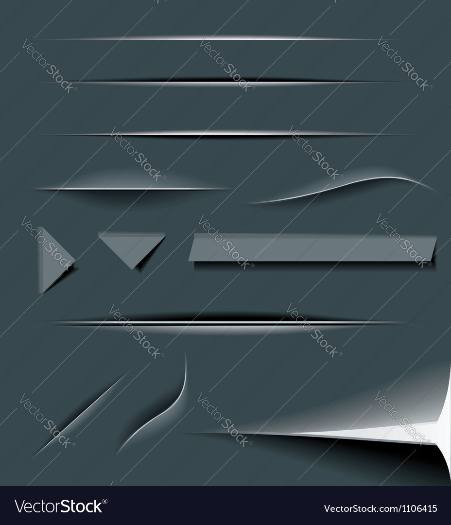 Paper cut dividers vector | Price: 1 Credit (USD $1)