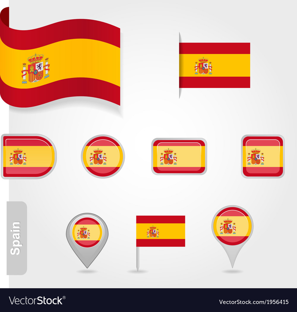 Spanish flag icon vector | Price: 1 Credit (USD $1)