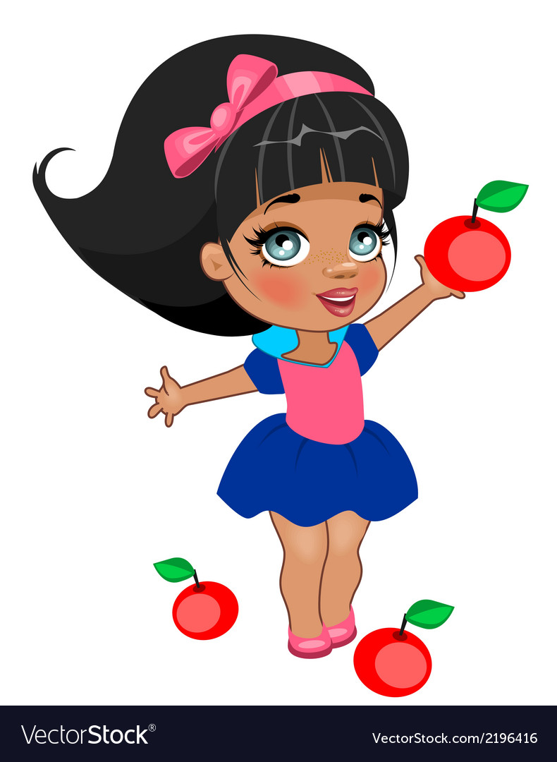 A girl snow white vector | Price: 1 Credit (USD $1)