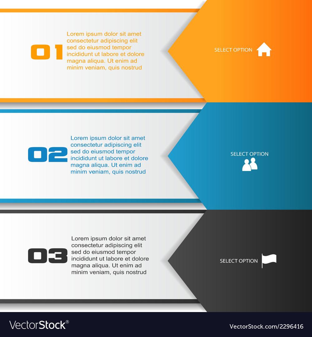 Arrow infographic template vector | Price: 1 Credit (USD $1)