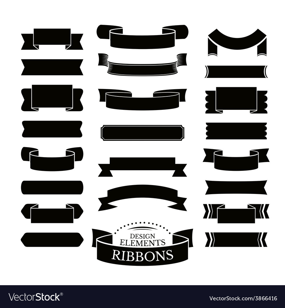 Collection of different ribbons vector | Price: 1 Credit (USD $1)
