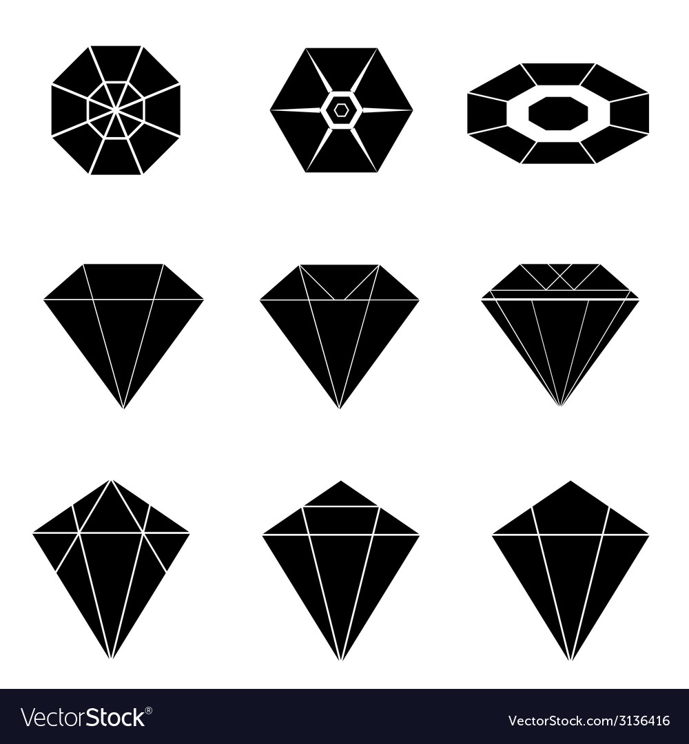 Diamonds black vector | Price: 1 Credit (USD $1)