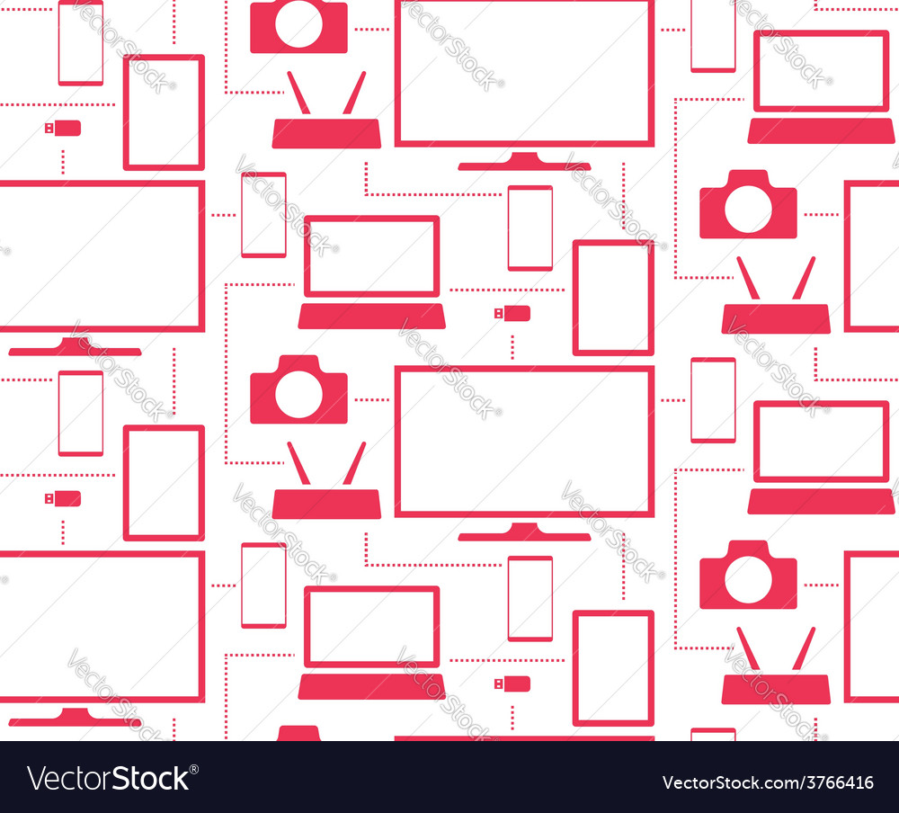 Household appliances and electronics tablet tv vector | Price: 1 Credit (USD $1)