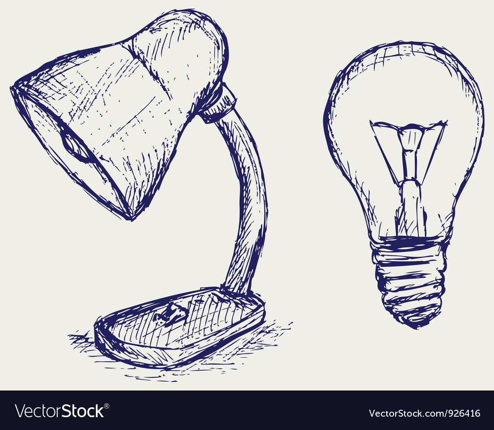Light bulb sketch vector | Price: 1 Credit (USD $1)