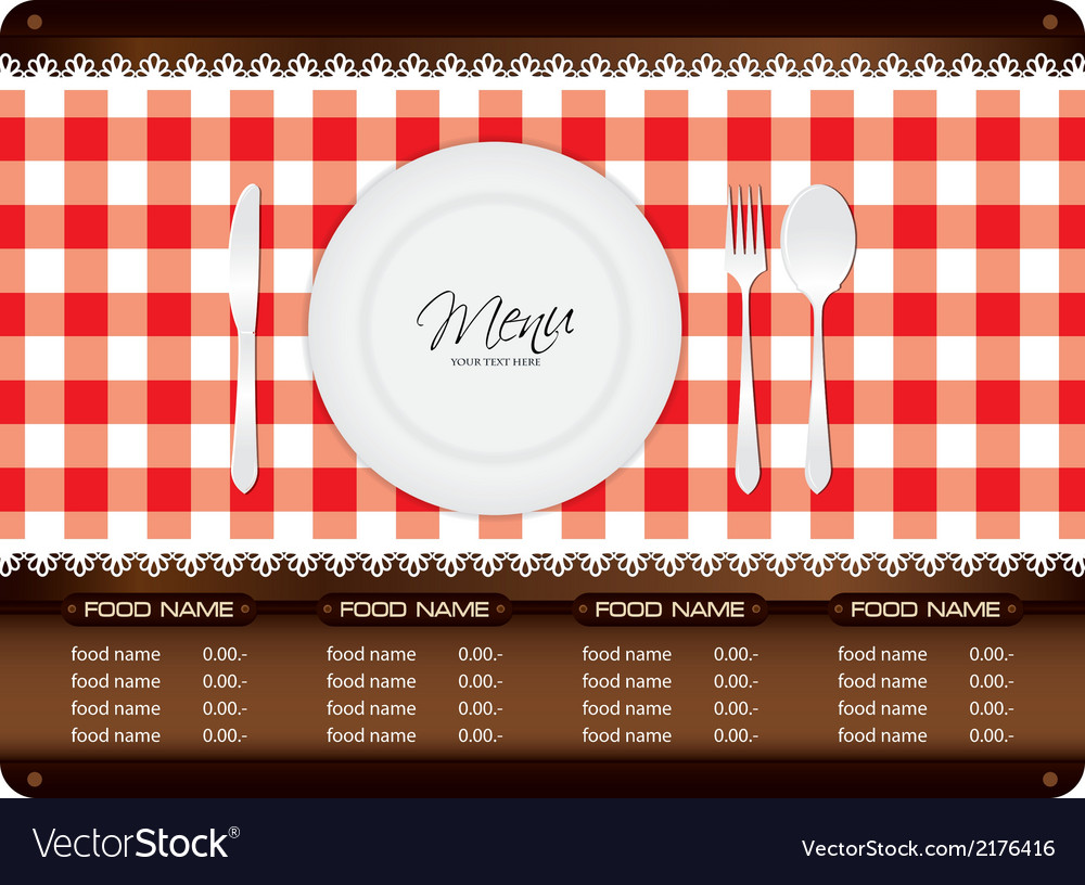 Menu woode sign vector | Price: 1 Credit (USD $1)