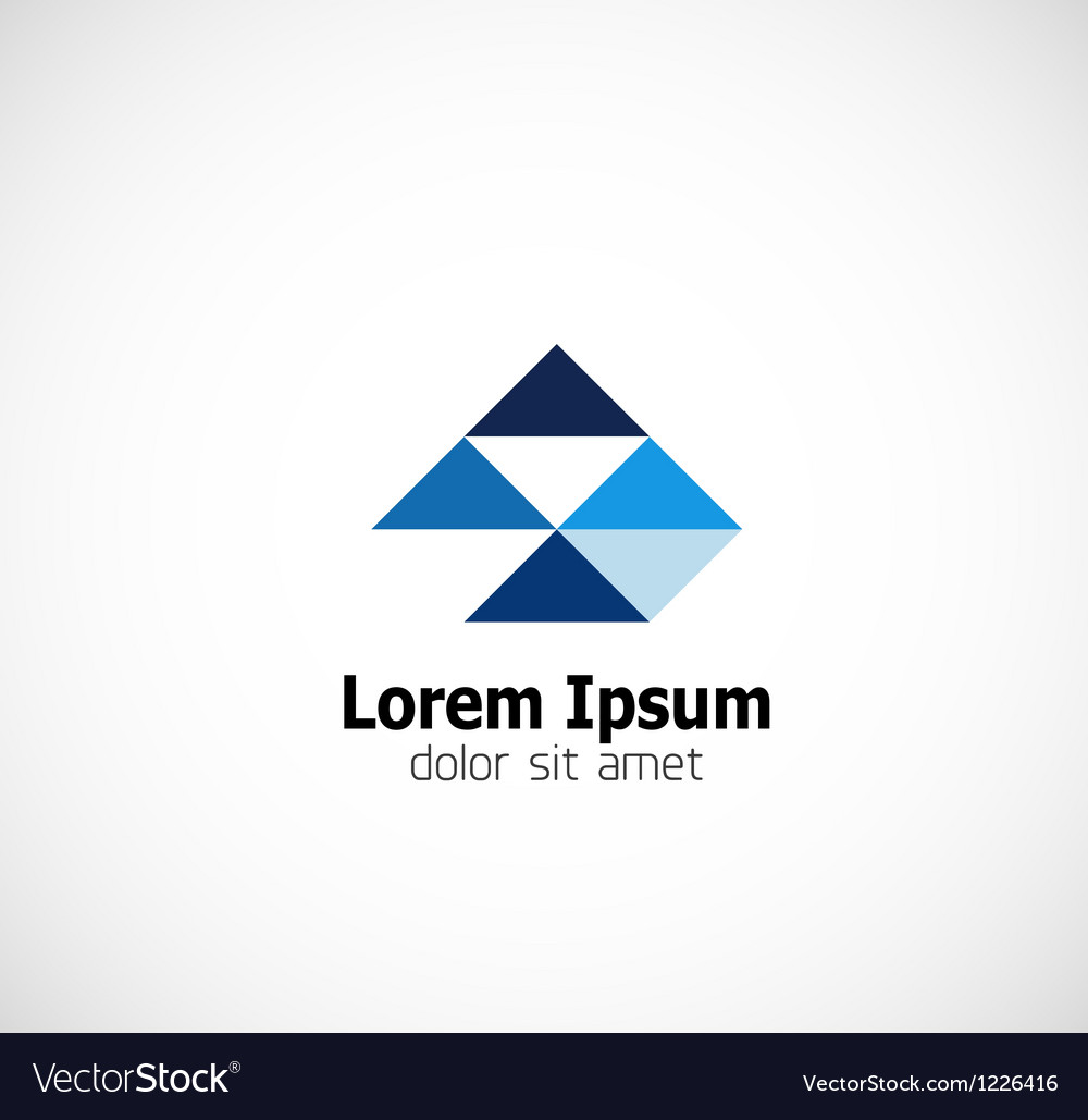 Modern triangle abstract business symbol vector | Price: 1 Credit (USD $1)