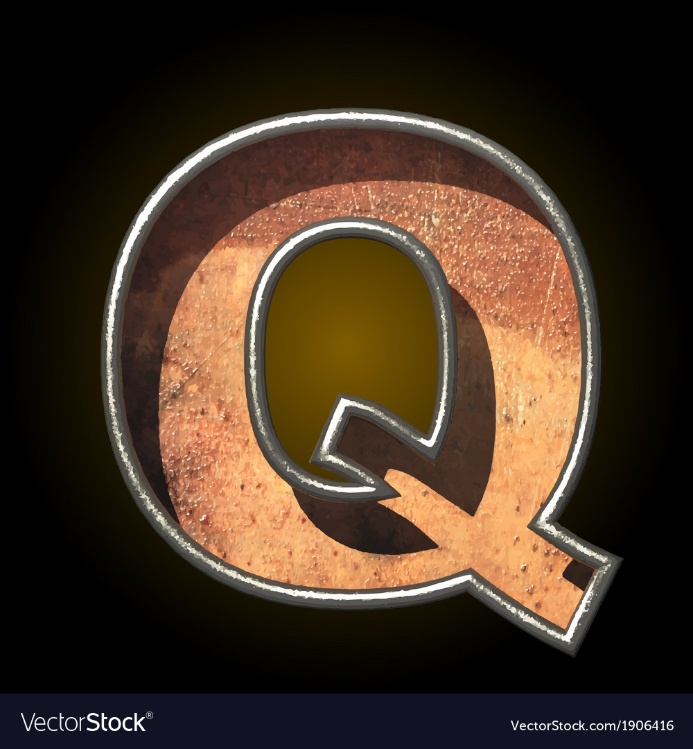 Old metal letter q vector | Price: 1 Credit (USD $1)