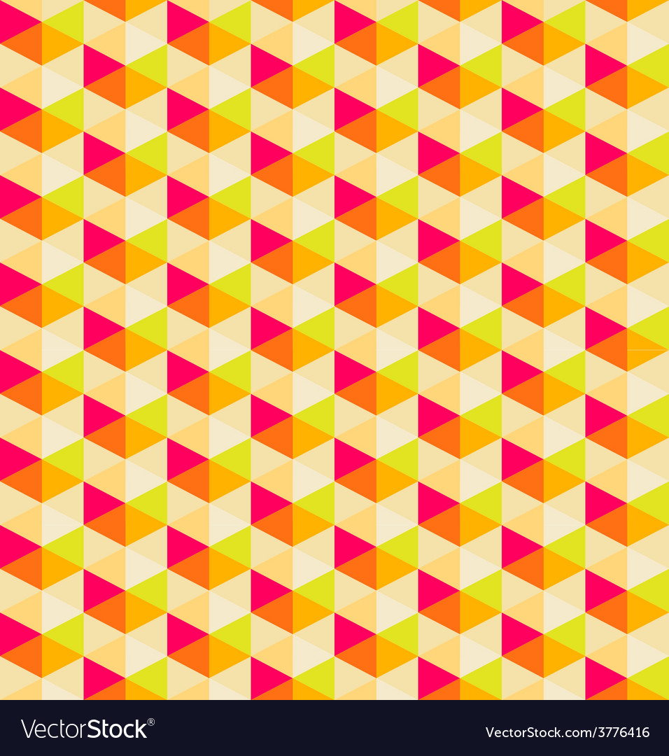 Orange geometric seamless pattern background vector | Price: 1 Credit (USD $1)