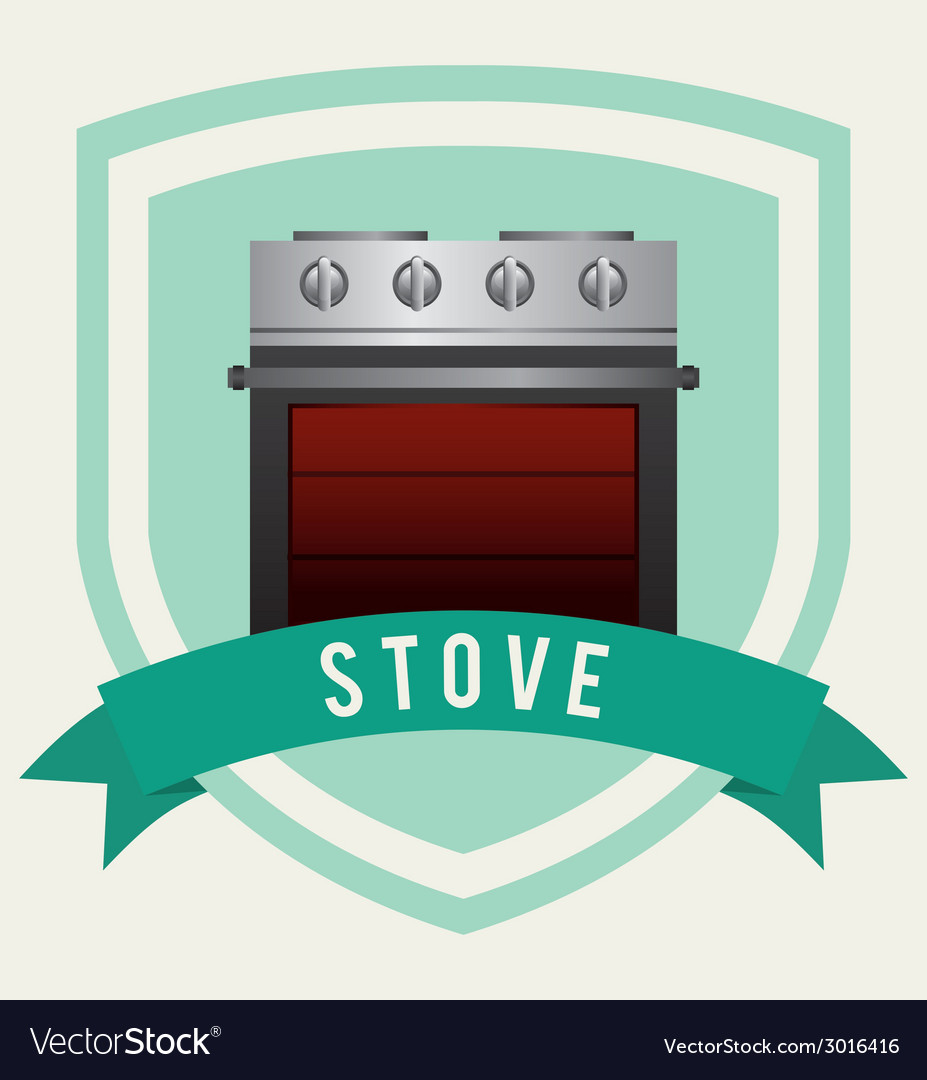 Stove design vector | Price: 1 Credit (USD $1)