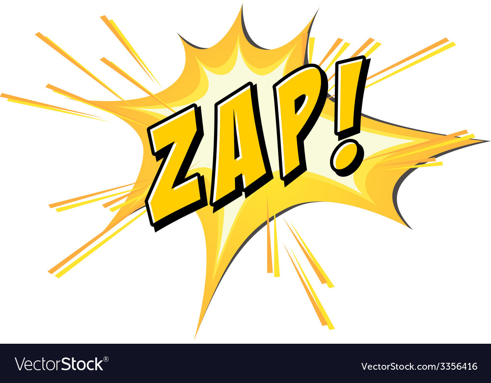 Zap flash on white vector | Price: 1 Credit (USD $1)