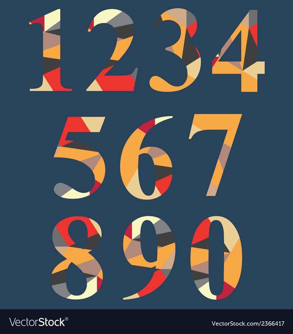 Abstract number set vector | Price: 1 Credit (USD $1)