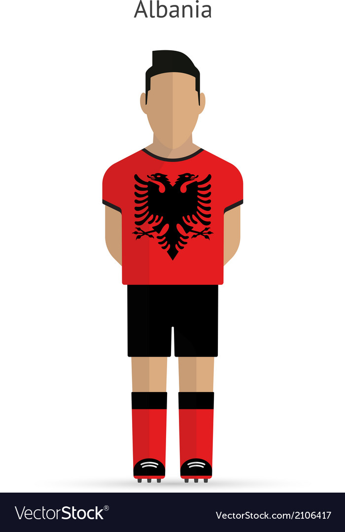 Albania football player soccer uniform vector | Price: 1 Credit (USD $1)