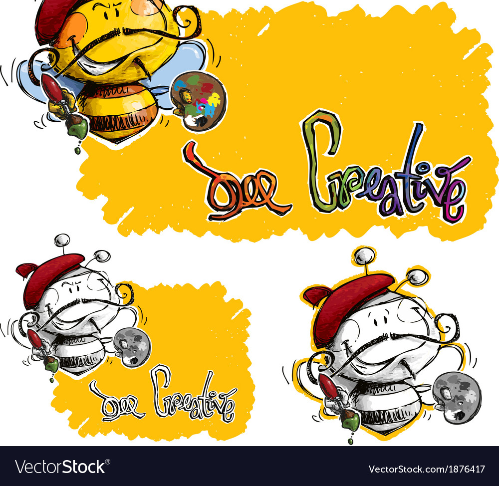 Bee craetive vector | Price: 1 Credit (USD $1)
