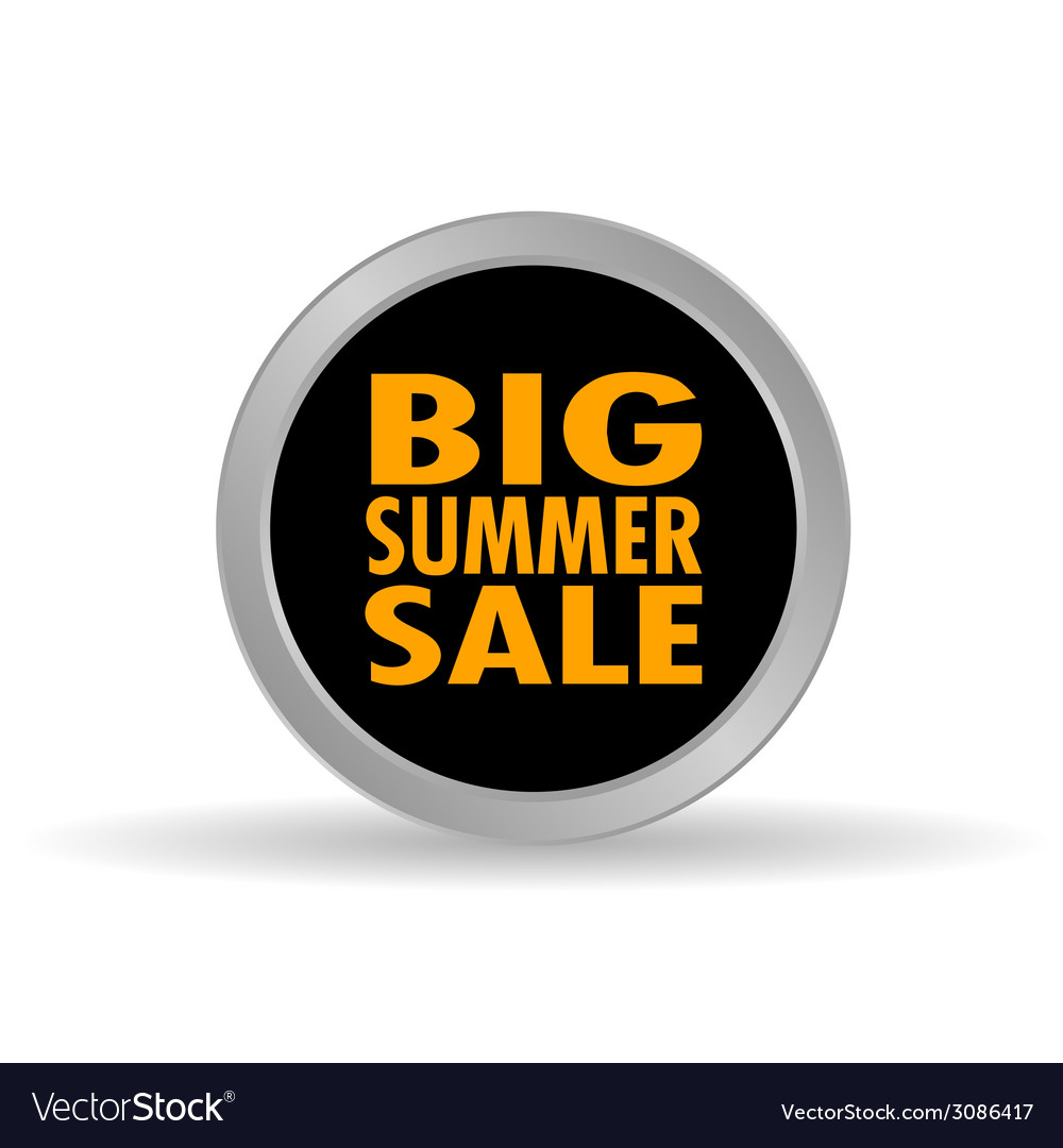 Big summer sale icon vector | Price: 1 Credit (USD $1)