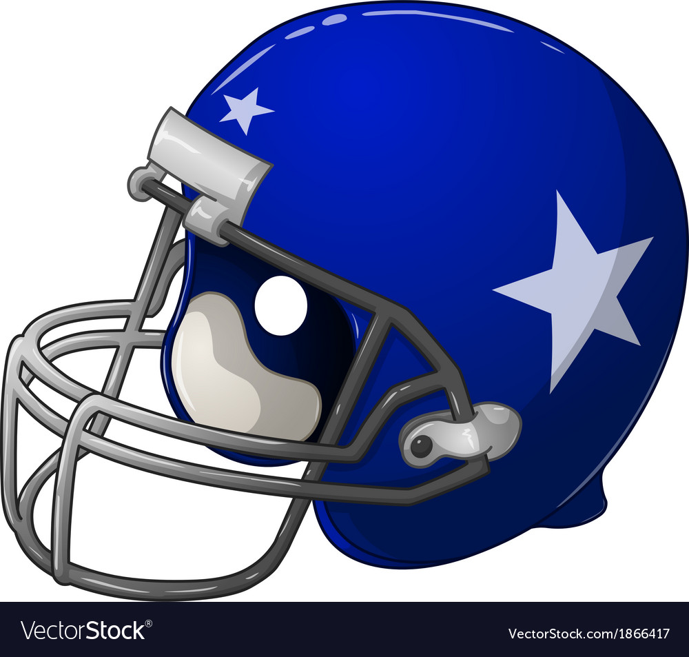 Blue football helmet vector | Price: 1 Credit (USD $1)