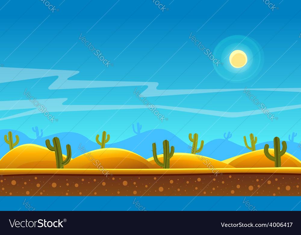 Desert cartoon background vector   Price: 5 Credit (USD $5)