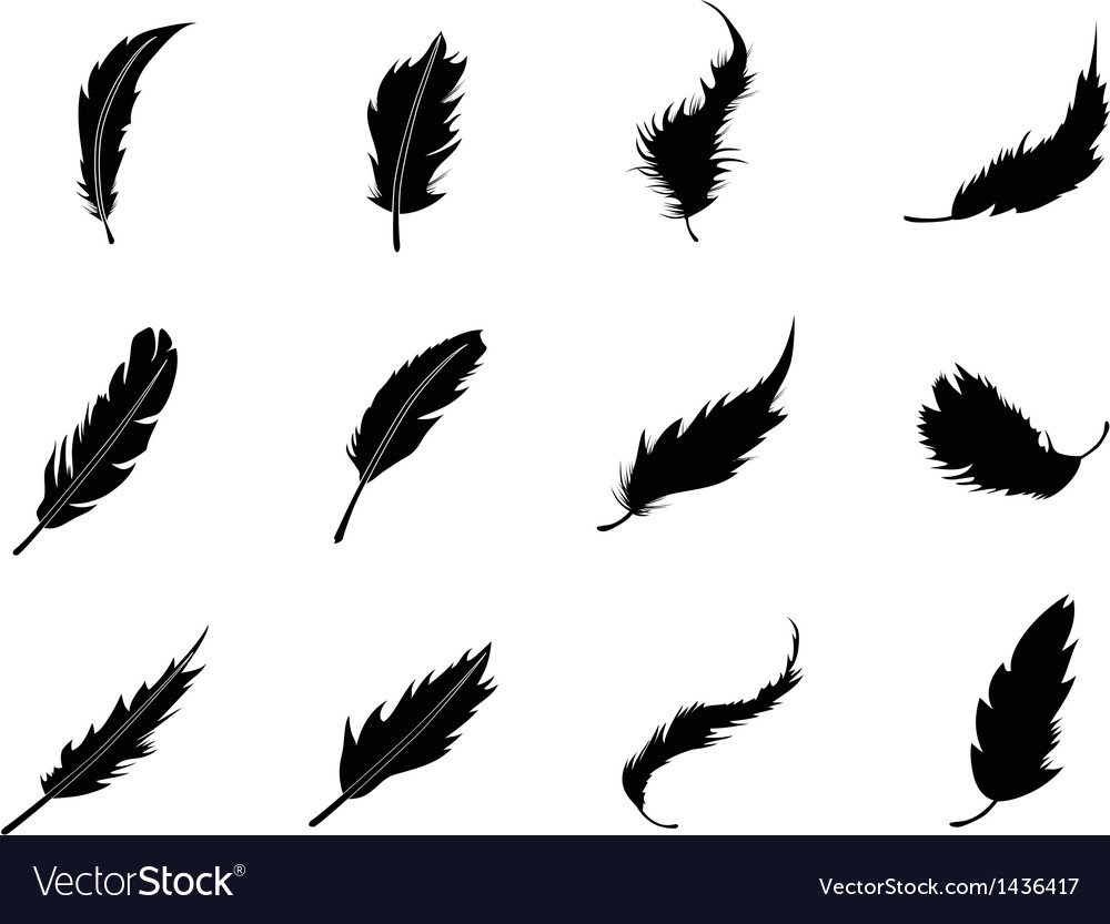 Feather icons set vector | Price: 1 Credit (USD $1)